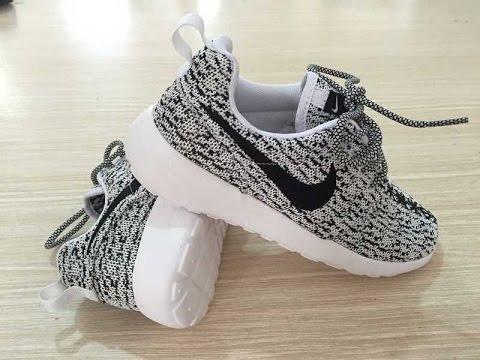 yeezy boost 350 x nike roshe run custom sneakers