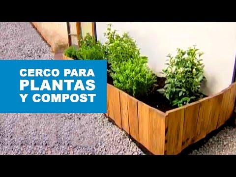 C mo construir un cerco para las plantas y hacer compost - Como decorar un patio ...