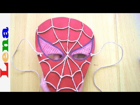 spiderman maske basteln aus papier how to make spiderman. Black Bedroom Furniture Sets. Home Design Ideas