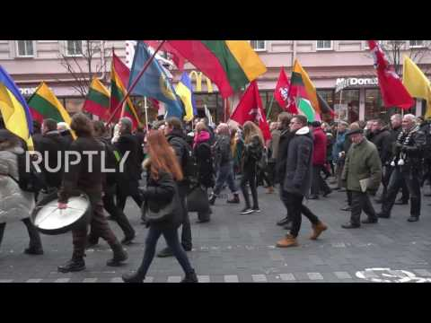 Lithuania: Hundreds march through Vilnius on 27th Lithuanian Day of Independence