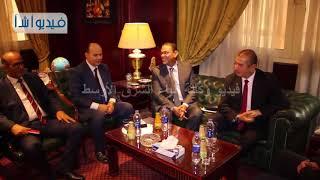 بالفيديو: علي حسن رئيس أ ش أ يستقبل بمكتبه محافظ كفر الشيخ