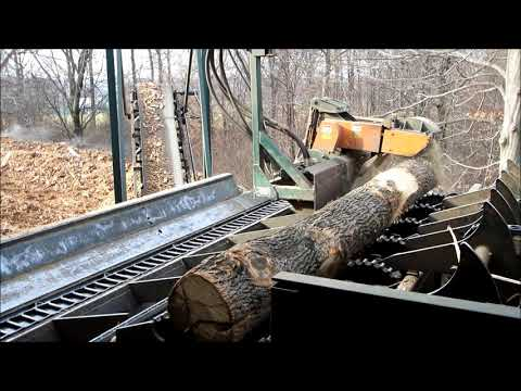 MELLOTT Debarker Butt Reducing System -  Stoltzfus Forest Products,  Peach Bottom, PA