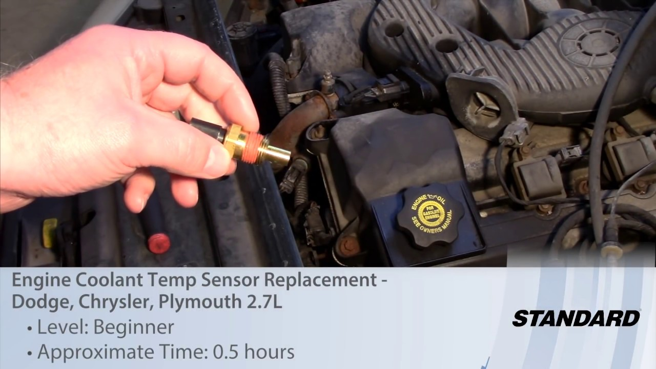 small resolution of engine coolant temp sensor replacement dodge chrysler plymouth 2 7l youtube
