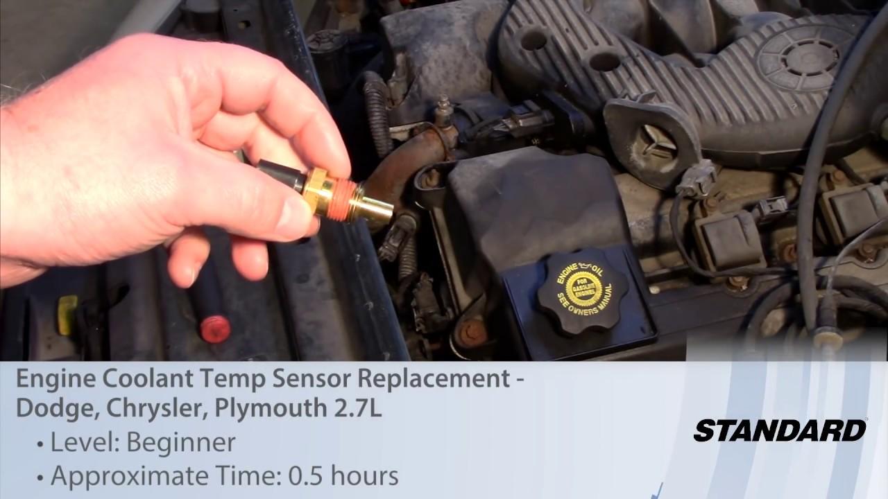 Engine Coolant Temp Sensor Replacement  Dodge, Chrysler