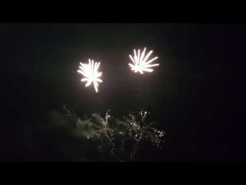 Sandown Beach fireworks 2017