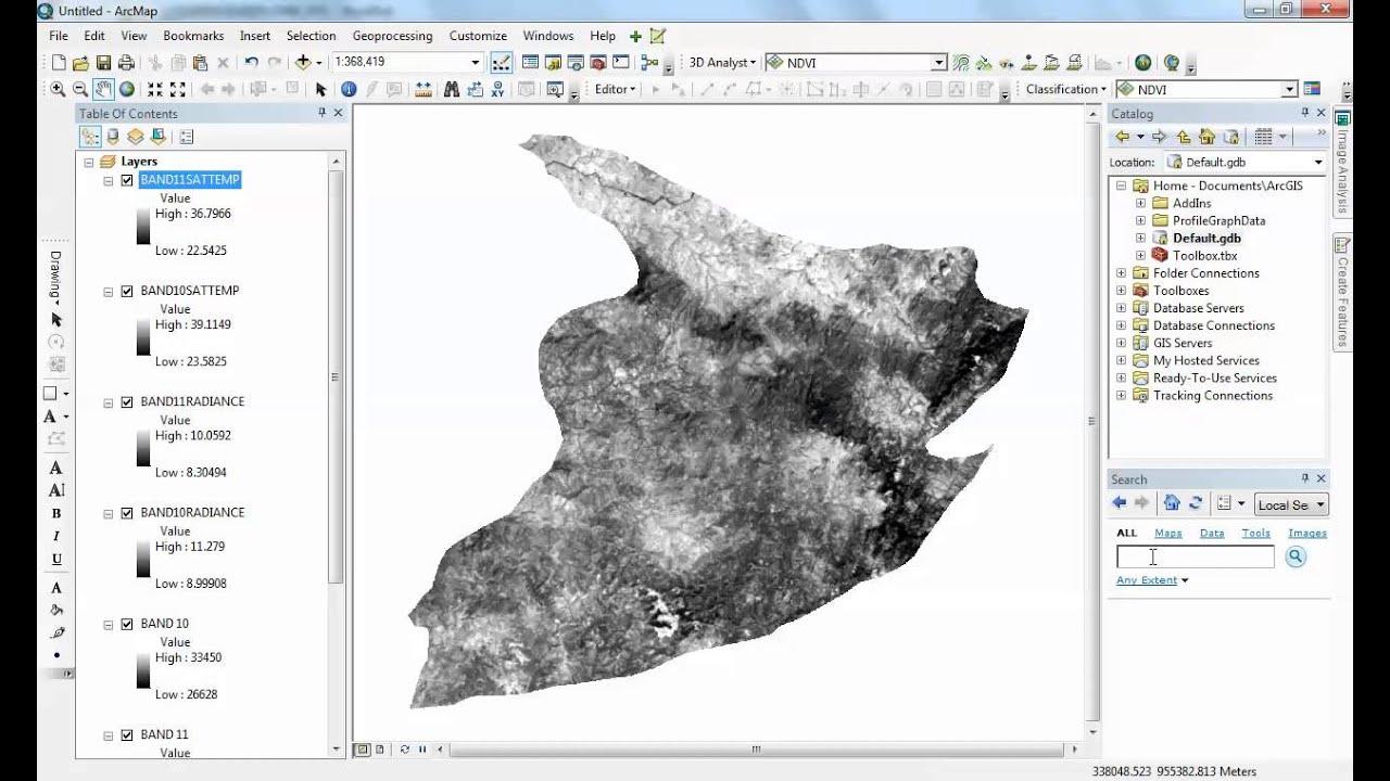 Landsat 8: Estimating Land Surface Temperature Using ArcGIS