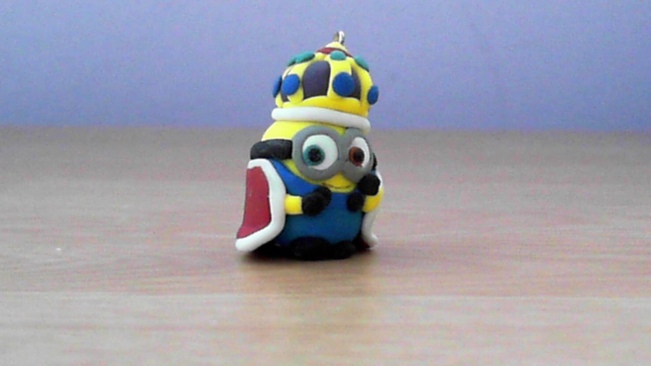 Lets Make Cute King Bob Minion Keychain With Polymer Clay