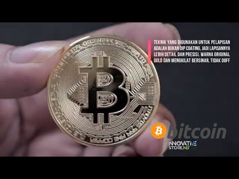 Koin Btc Emas Bitcoin Fisik Gold Plated High Quality