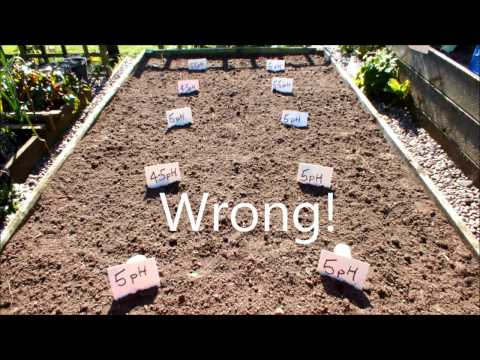 HGV How to test and adjust the soil pH in a raised bed start to finish