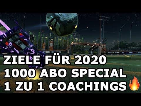 Was passiert 2020?  1000 Abonnenten Special, Coachings und neue Spiele! Rocket League