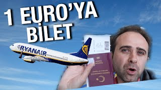 1 Euro'ya Uçak Bileti Satan Firma Rynair | İrlanda