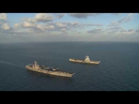 USS Dwight D. Eisenhower (CVN 69) &  Charles de Gaulle aircraft carrier