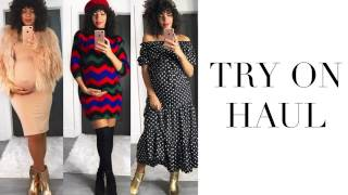 TRY ON HAUL ( 9 MONTHS PREGNANT ) | SHEIN, ROMWE, ASOS, MAKEMECHIC