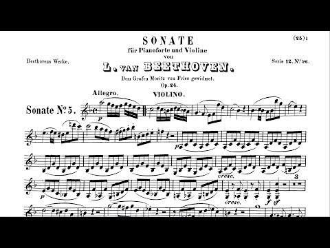 """Beethoven's """"Spring Sonata"""" Op.24 Allegro"""