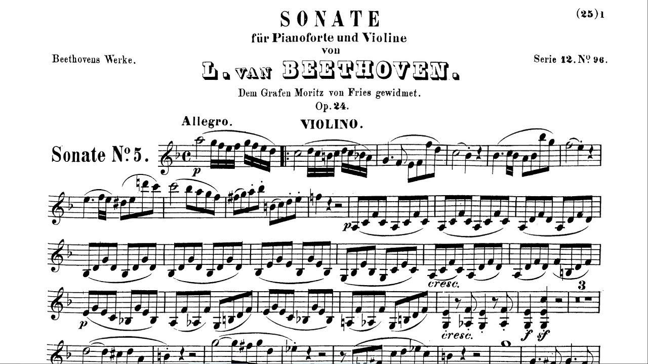 Beethovens Spring Sonata Op24 Allegro
