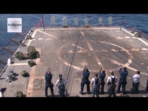 Drills Aboard Guided Missile Destroyer USS Winston Churchill (DDG-81)