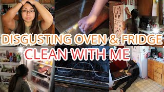 *DISGUSTING* Oven and Fridge Clean With Me  Husband &amp Wife Clean Together  Jennifer G Family