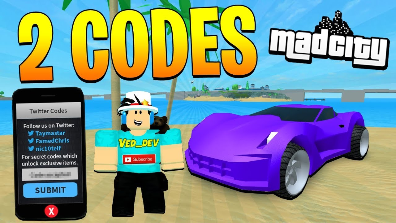 2 Secret New Codes In Mad City Roblox Youtube