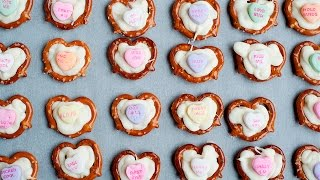 EASY PRETZEL HEARTS - Mother's or Valentine's Day Treat Idea