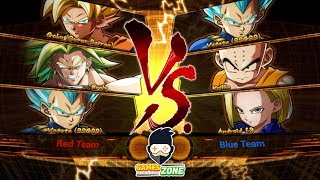 DRAGON BALL FighterZ Team Goku Vs Team Krillin first Play  #Arcade Mode