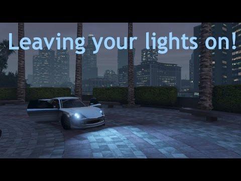 [GTA V] How to leave lights on/engine running in GTA Online
