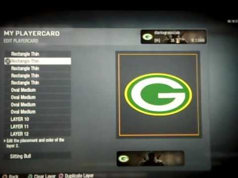Black Ops Custom Emblem Tutorial - Green Bay Packers Logo