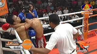 Kun Khmer, ប៊ុន សុធា Vs ឡាវ, Bun Sohtea Vs Saengsuriya (Thai, Bayon boxing 21 Dec 2018 | Fights Zone