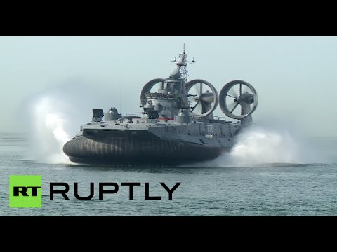 Race of Heroes: World's largest hovercraft opens military sp