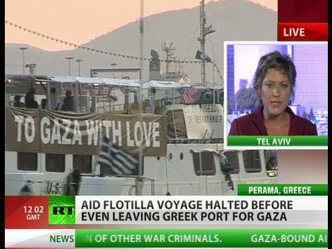 Flot of Bother: Gaza-bound aid flotilla grounded in Greece