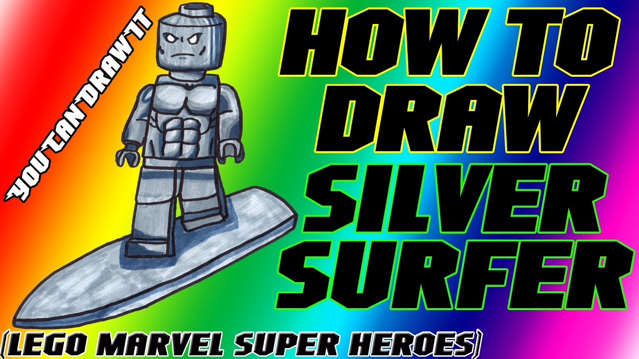 How To Draw Silver Surfer From Lego Marvel Super Heroes