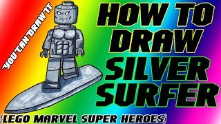 How To Draw Silver Surfer from Lego Marvel Super Heroes ✎ YouCanDrawIt ツ 1080p HD