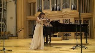 Ludmila Pavlová - violin, 16th Tchaikovsky competition recording 2019