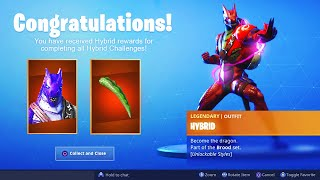 *NEW* Stage 4 MAX HYBRID SKIN UNLOCKED in Fortnite.. (Fully Upgraded Hybrid Final Challenges)