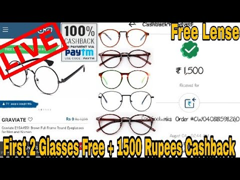 Live proof|Free Eye Glass & Frame+1500 rupees paytm Cashback|How to buy glasses from Coolwinks