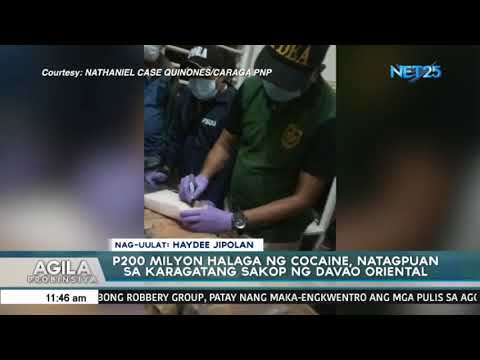 At least 36 kilos of cocaine found off Davao Oriental