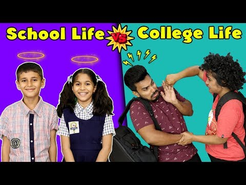 SCHOOL LIFE VS COLLEGE LIFE | Pari's Lifestyle Funny Video