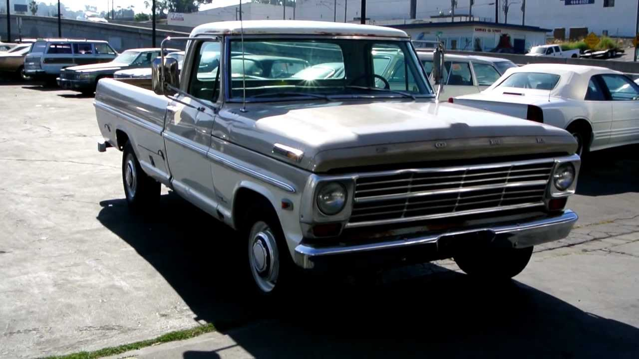 1968 ford f 250 camper special f250 f350 custom cab pickup truck youtube