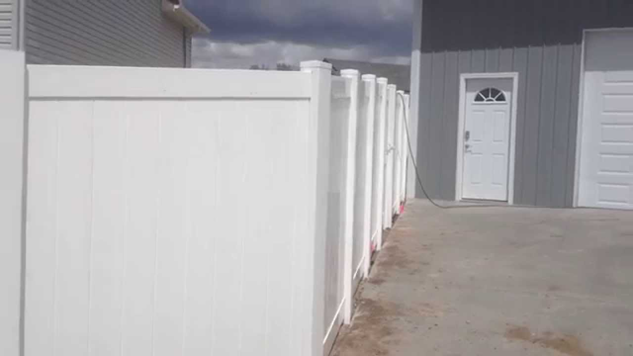 How To Install Vinyl Fence With A 45 Degree Corner Youtube
