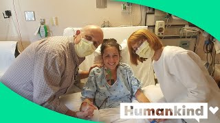 Watch this mom take her first breath with her new lungs