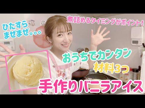 【牛乳・砂糖・卵で】簡単手作りバニラアイス