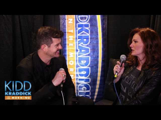 Robin Thicke backstage interview iHeartRadio Jingle Ball 2013