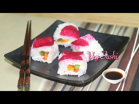 Quick & Easy Veg. Sushi Video Recipe By Bhavna - Perfect Lunch Box Sushi