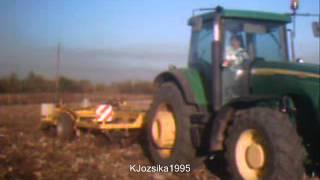 Kultivátorozás John Deere 8320 + Strom Ripperland RM3000