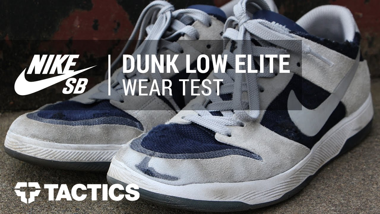 1a21d89b6f37 Nike SB Zoom Dunk Low Elite Skate Shoes Wear Test Review - Tactics ...