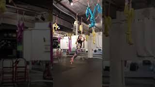 #플라잉요가#flying Yoga#싱글스트랩에서 미들스트랩 연결하기~중급수업시 20분 정도의 시퀀스완성 오른쪽.왼쪽