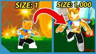 Becoming The Biggest Player In Roblox Size Simulator