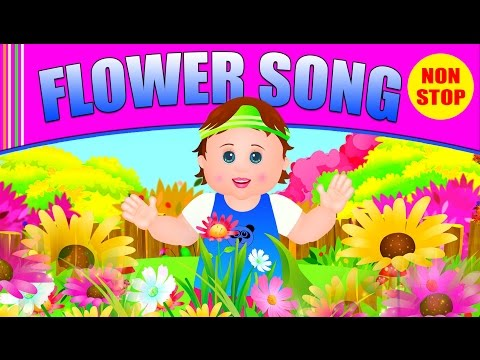Oh Flower 🌻 Flower song for kids 🌷 Preschool Children song🌹 Kids Club Rhymes ✈ Flower Loop song