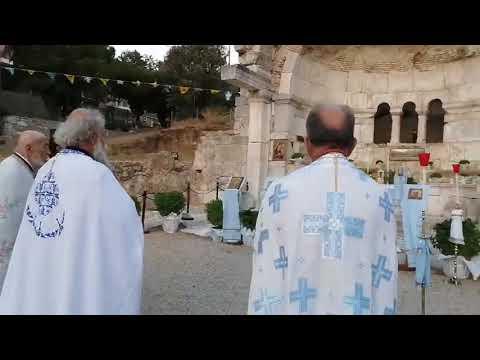 Ο εσπερινός στον Χριστό της Ιερουσαλήμ στην Κάλυμνο.