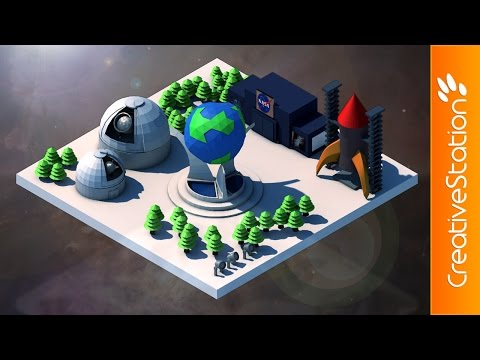 Space Base - 3D Speed art (#Cinema4D) | CreativeStation
