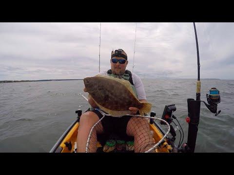 Jumbo Sea Bass And Keeper Fluke (Flounder) | Montauk Kayak Fishing